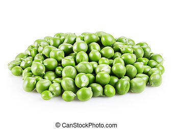 green peas - fresh green peas isolated on a white background...