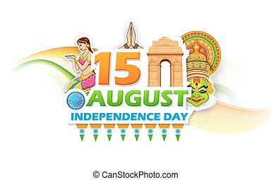 Independence Day of India - illustration of Independence Day...