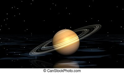 planet saturn and water