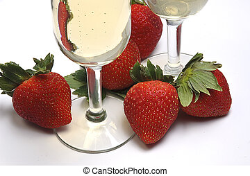 Sweet Indulgence - Strawberries and Champagne ready to enjoy