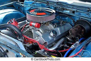 Customized Car Engine - Customized car engine at auto show