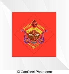 durga-devi-symbol - lord durga symbol concept