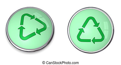 Button Recycle Arrows