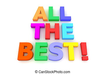 Colourful All The Best! - multicoloured letters All the...