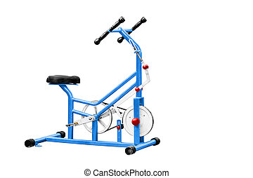 Exercise equipment - Exercise equipment isolated on white,...