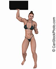 Female Bodybuilder - 3D Render of an Female Bodybuilder