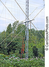 Mounting rotating antenna - The rotating antenna is two...