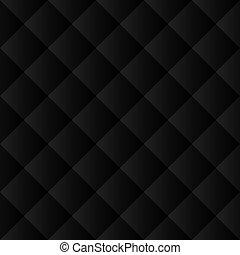 Seamless black padded pattern - Seamless black padded...
