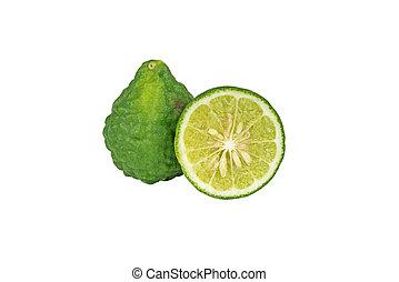 Bergamot. - Bergamot isolated on white background, Work with...