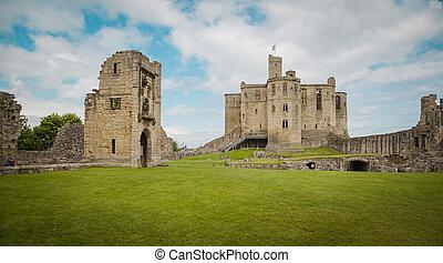 Historic Warkworth Castle in Northumberland