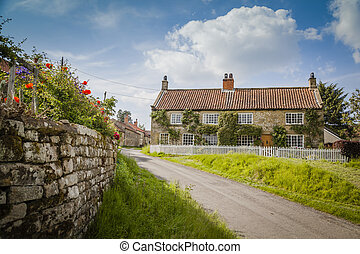 Typical village in North York Moors National Park