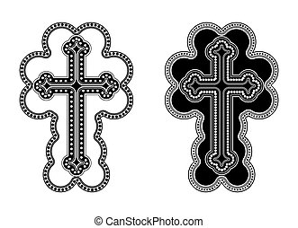 Traditional Armenian Apostolic Church cross clip art Vector...