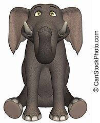 Toon Elephant - 3D Render of an Toon Elephant