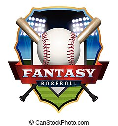 Fantasy Baseball Emblem Illustratio - An emblem illustration...
