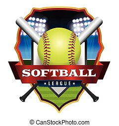Softball League Emblem Illustration - An illustration for a...