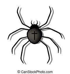 Black Spider - Vector Illustration of a Black Spider