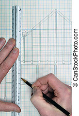 Drawing and planning for a house blueprint design - House...