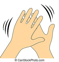 Hands clapping symbol. Vector icons for video, mobile apps,...
