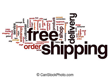 Free shipping word cloud concept - Free shipping  word cloud