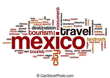 Mexico word cloud concept