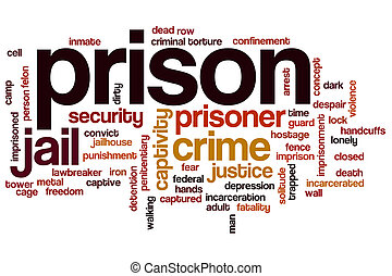 Prison word cloud concept - Prison word cloud