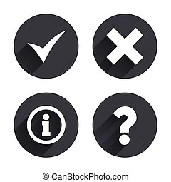 Information icons Question FAQ symbol - Information icons...