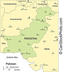 Pakistan, Major Cities and Capital and Surrounding Countries