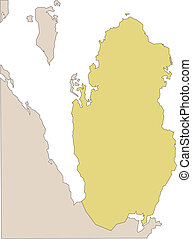Qatar and Surrounding Countries