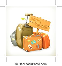 Traveling bags on white - Traveling bags, isolated on white...