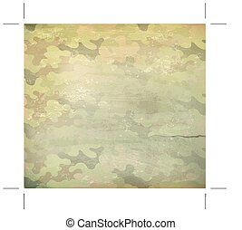 Camouflage old style background,