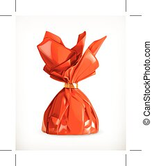 Red Chocolate Candy - Red Chocolate Candy, icon, isolated on...