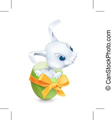 Cartoon Easter rabbit