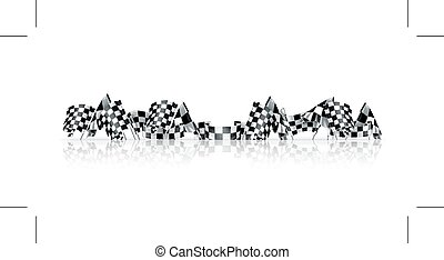 Checkered flags - Checkered flags, isolated on white...