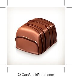 Chocolate candy icon - Chocolate candy, vector icon,...