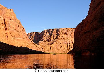 Fisherman on the Colorado River in Glen Canyon Arizona