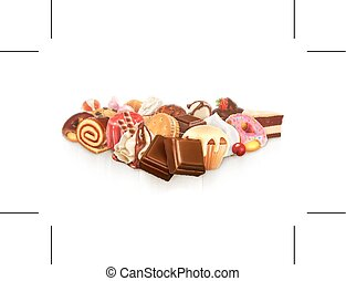 Confectionery vector illustration - Chocolate, confectionery...