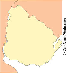 Uruguay and Surrounding Countries