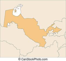 Uzbekistan and Surrounding Countries