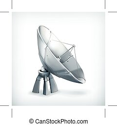 Parabolic antenna icon - Parabolic antenna, vector icon,...