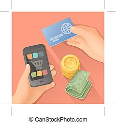 Payments vector illustration - Payments, flat design vector...
