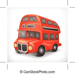 Red double deck bus - Red double deck bus, vector...