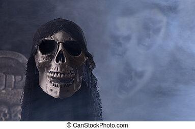 Grim Reaper Prop - Halloween grim reaper prop with scary...