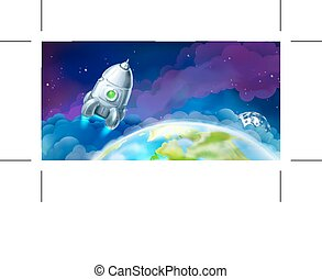 Space vector background - Space, vector background for...