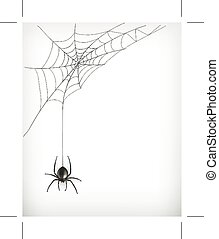 Spider web vector, isolated on white background