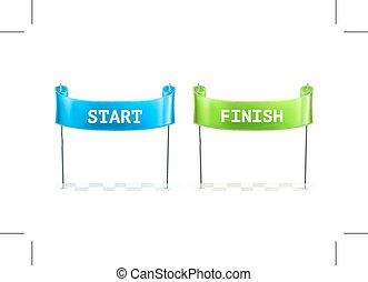 Start and Finish icons
