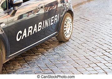 Italian Police Carabineri in Rome