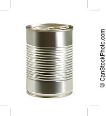 Tin can icon - Tin can, vector icon, isolated on white...