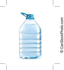 Bottle of potable water - Big plastic bottle of potable...