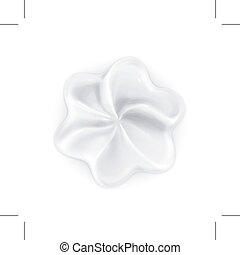 Whipped cream icon - Whipped cream icon, isolated on white...
