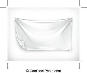White banner illustration